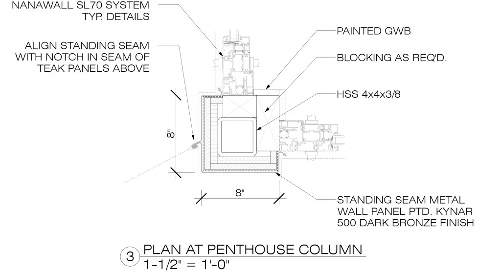 576 Vanderbilt_PENTHOUSE_DOB Set_POST OBJ_MODIFIED PLANS - Drafting View - Plan at Col-01